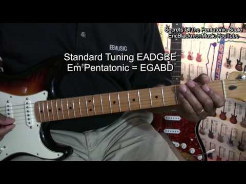 Secrets Of The Pentatonic Scale Guitar  Theory Lesson EricBlackmon
