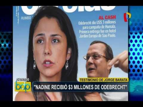 Nadine Heredia habría recibido US$3 millones de Odebrecht
