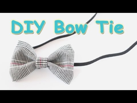 Bow Tie - How To Make A DIY Bow Tie - Easy Sewing Project