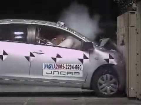 自動車アセスメント:トヨタベルタ:フルラップ前面衝突試験