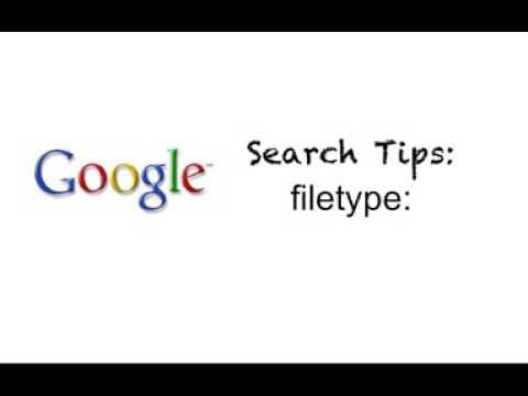 how to search for filetype google