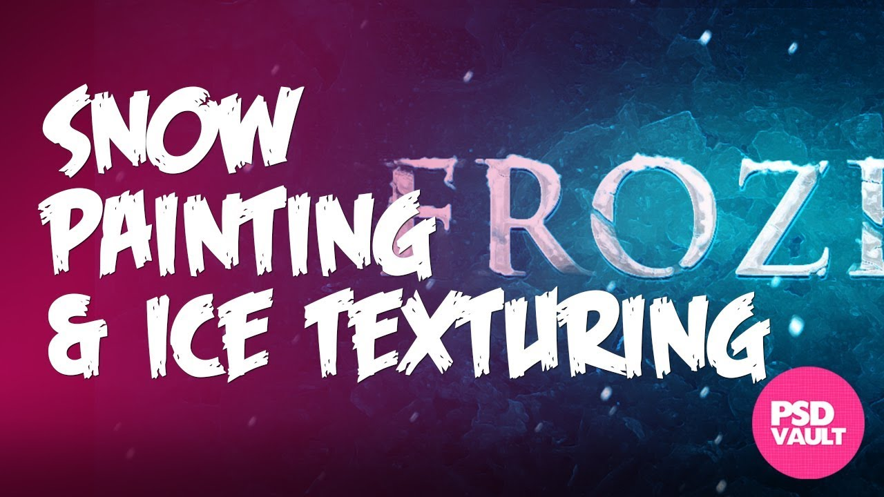 Photoshop Tutorial Snow Painting And Ice Texturing For