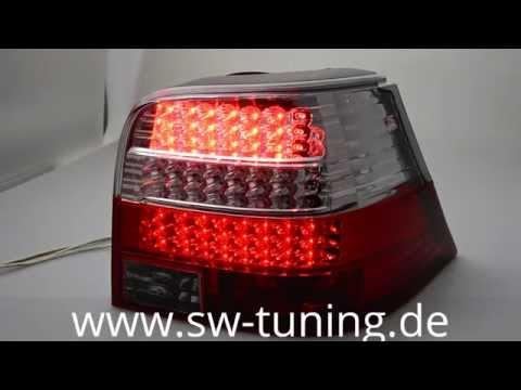 SWLight LED Rückleuchten VW Golf 4 red/clear SW-Tuning