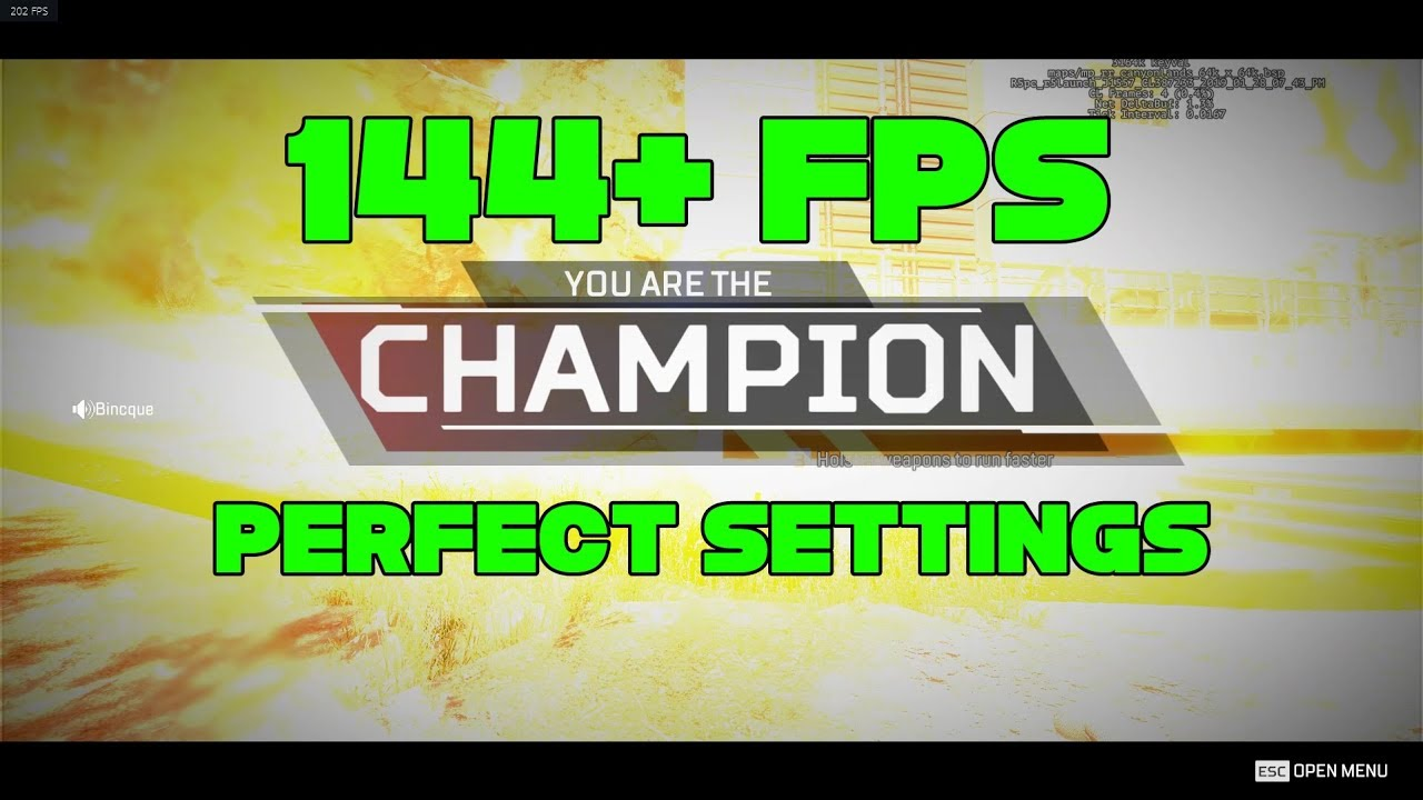 BEST Video & Quality Settings for Apex Legends? 144 FPS *MINIMUM* UPDATED  2/18/2019