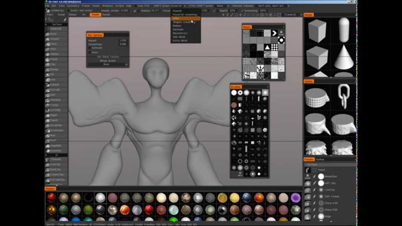 3d coat great sculpting software for 2d artists looking