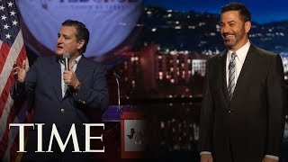 Ted Cruz Defeats Jimmy Kimmel In 'Blobfish' Charity Basketball Game | TIME