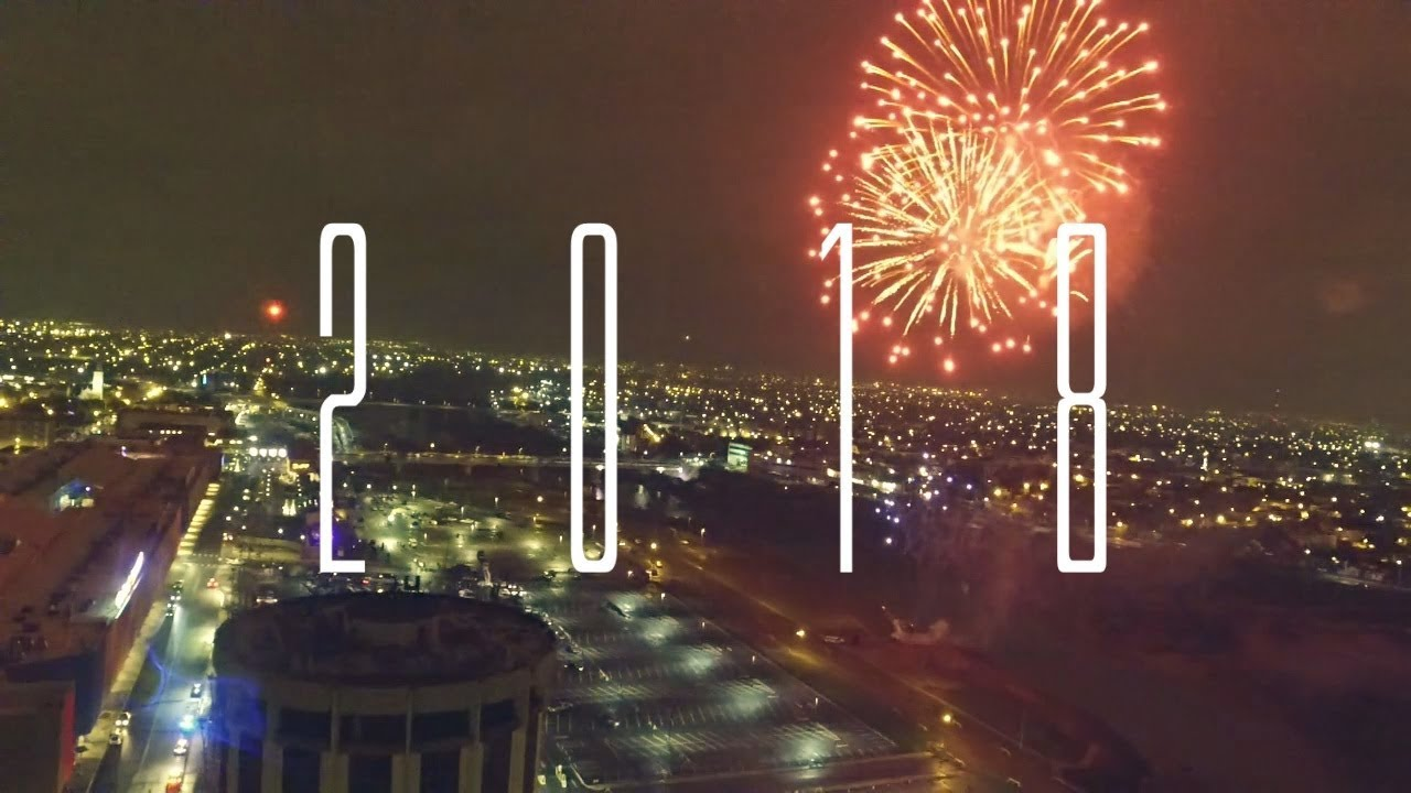 Laredo Texas (2018 New Year Fireworks Drone View) - Estylo Star Productions