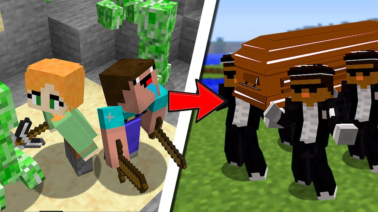 COFFIN MEME IN MINECRAFT ASTRONOMIA (part 7 noob & Alex) BY SCOOBY CRAFT
