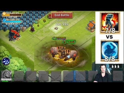 RockNO VS RockNO StoneSkin VS Bulwark Crazy Fight Castle Clash