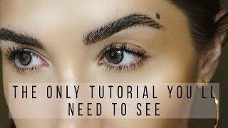 """FAUX MICROBLADED EYEBROWS Technique for """"Natural Model Brows"""" 