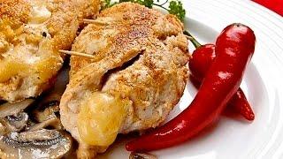 Филе курицы с грибами и сыром.