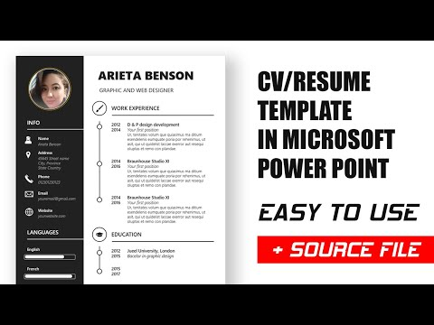 Как сделать резюме в Power Point — How To Make A CV Resume In Power Point