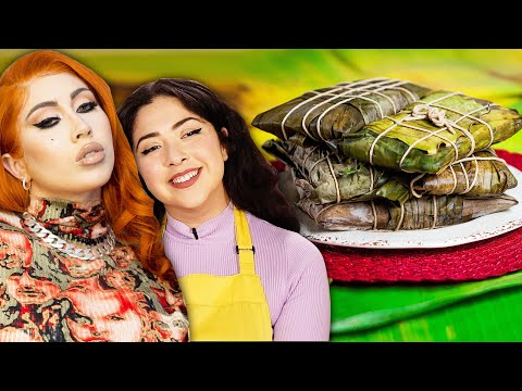 Can We Make More Hallacas Than A Professional Chef? Ft. Kali Uchis • Tasty