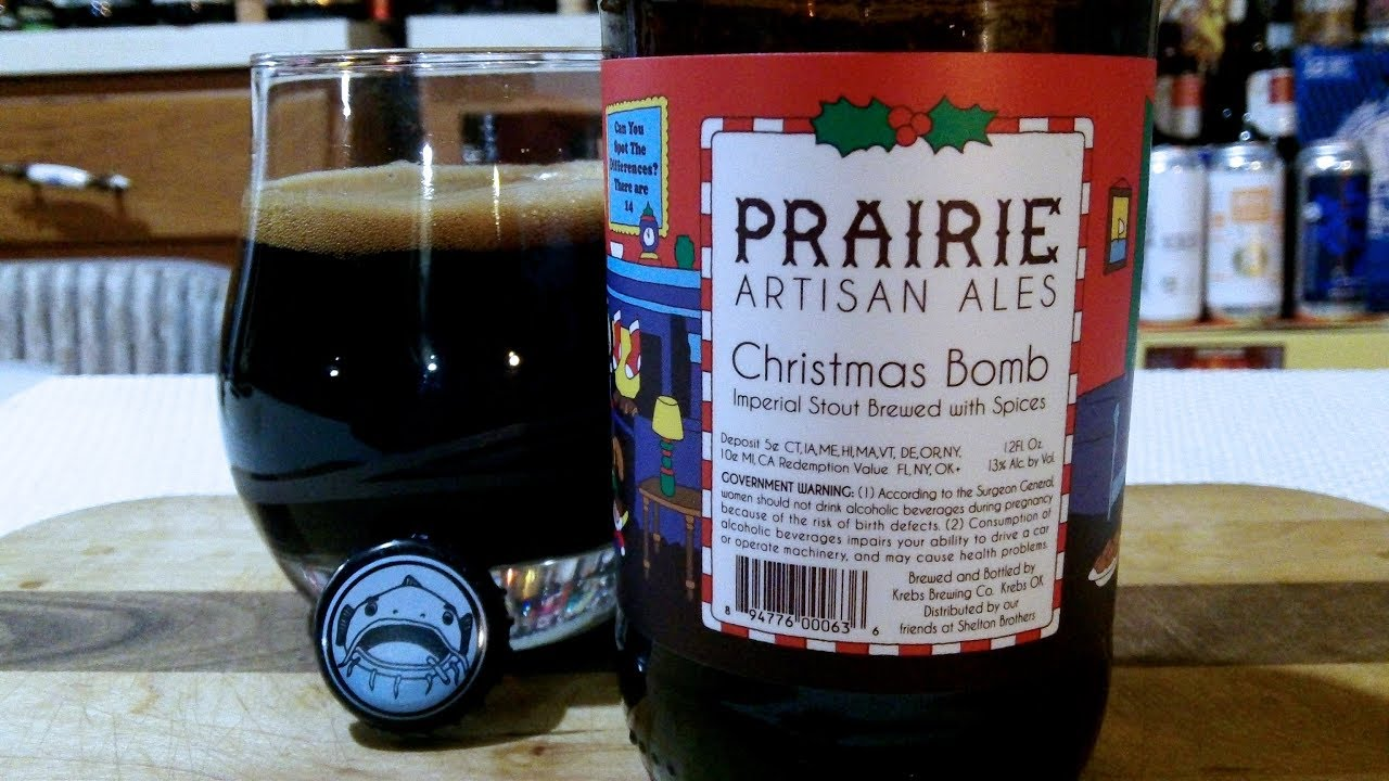 Christmas Bomb Beer.Prairie Artisan Ales Christmas Bomb Imperial Stout 13 Abv Djs Brewtube Beer Review 1105