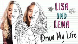 LISA AND LENA | Draw My Life (twins Lisa and Lena from musically) Leli 💕
