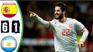 اهداف مباراة اسبانيا والارجنتين  ◄ مباراة ودية 27-3-2018 [ شاشة كاملة HD ]