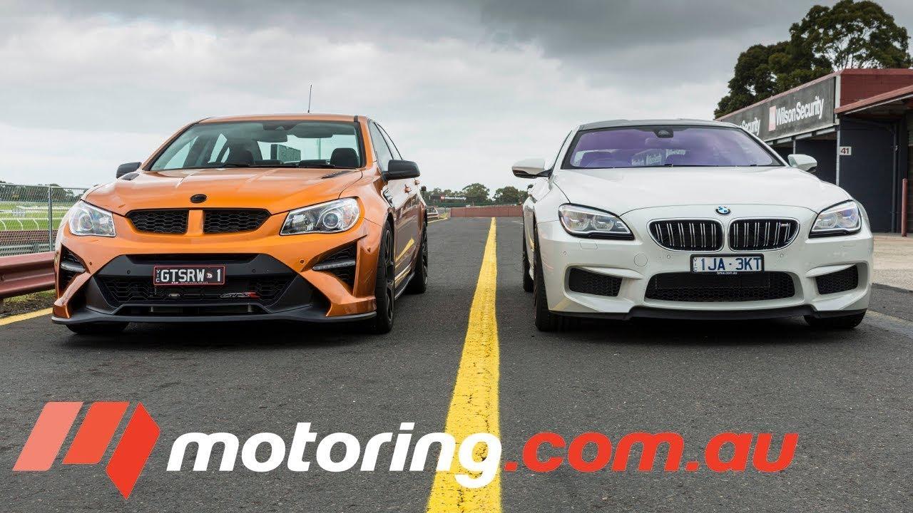 2017 HSV GTSR W1 v BMW M6 Gran Coupe Comparison - Track test |  motoring com au