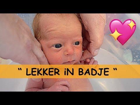 BABY iN TUMMY TUB 👶🛀😍 ( kraamweek dag 2) | Bellinga Familie Vlog #911