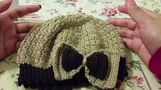 Como Tejer Gorro Con Moño En Crochet Para Niñas Con Punto ... dee172d91c7