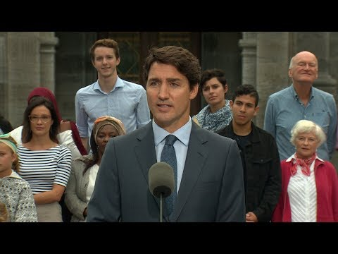 Justin Trudeau's full remarks on election call