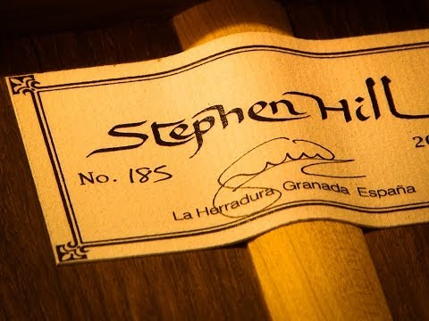 Stephen Hill The art of guitar making 2014