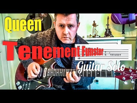 Queen - Tenement Funster - Guitar Solo Lesson (Guitar Tab)