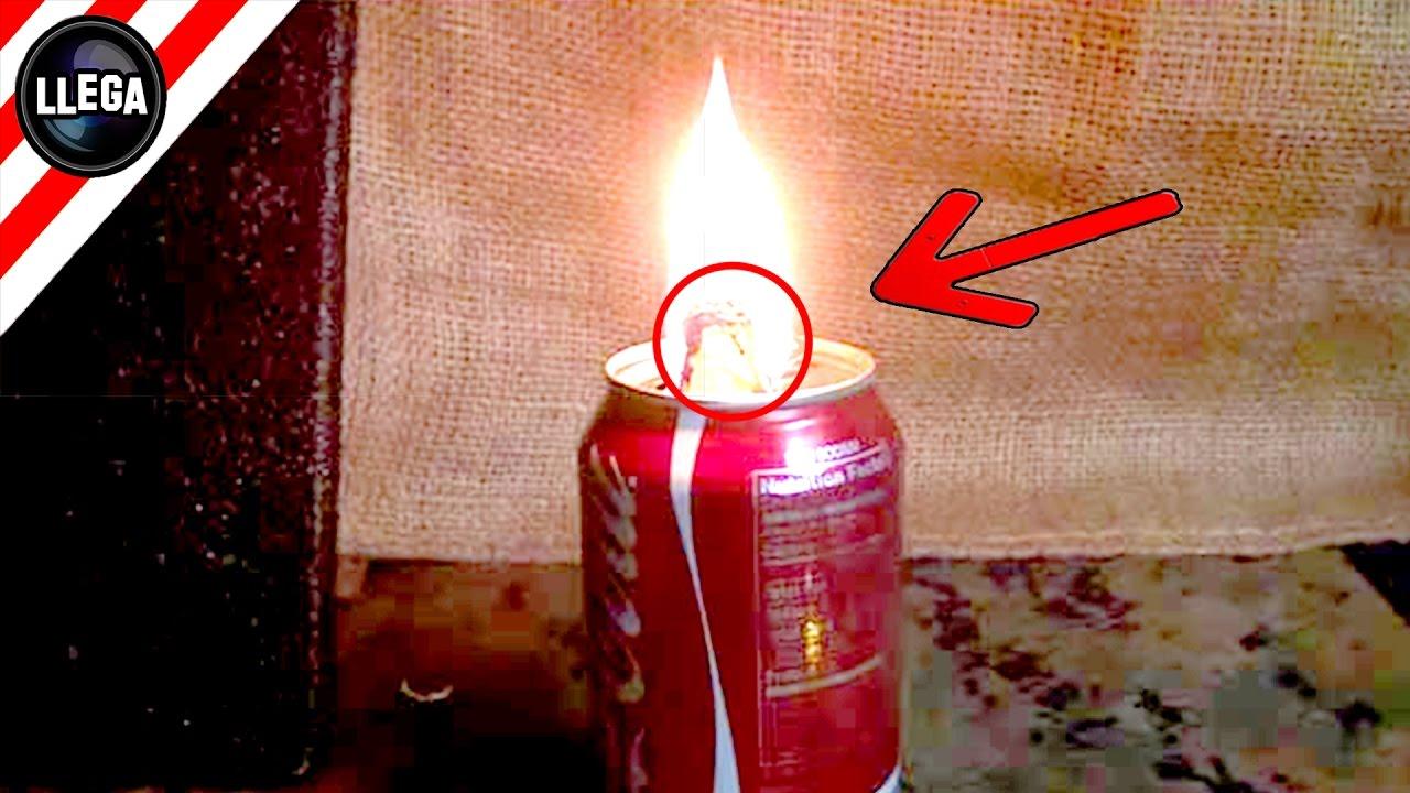 Impresionante Truco Para Hacer Una Lámpara De Aceite Con Una Lata De Refresco Youtube