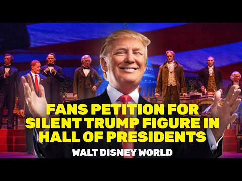 NEWS: Disney Fans Petition for Silent Trump Figure in Walt Disney World's Hall of Presidents