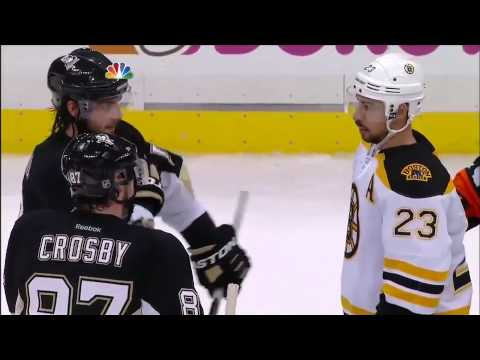Sidney Crosby and Zdeno Chara have some words for each other 6/1/13