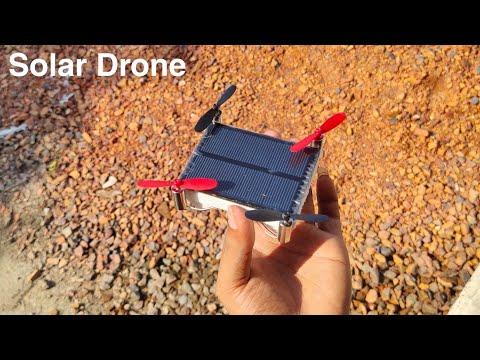 How To Make Mini Solar Drone    Solar Drone    Solar Drone Make At Home    The Easy Tech