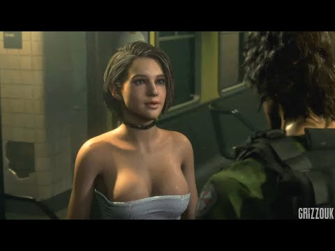 Resident Evil 3 Remake Jill Valentine in Sexy White No Skirt Redux Outfit PC Mod