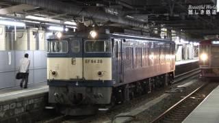 国鉄色プッシュプル  EF64-20号機+浪漫+EF64-42号機 JR長野駅HDV 1154
