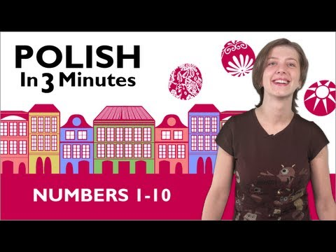Learn Polish - Polish in 3 Minutes - Numbers 1-10