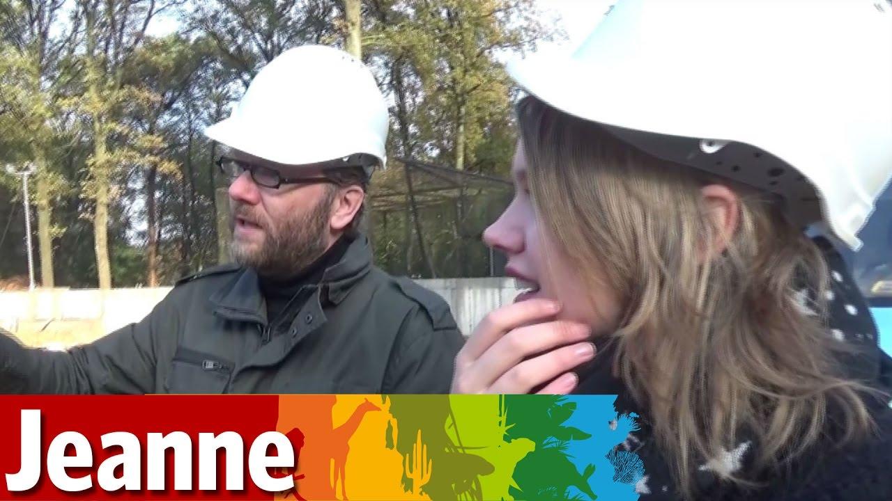 Jeanne neemt een kijkje op het bouwterrein van de Mangrove!
