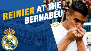 Reinier takes to the Estadio Santiago Bernabéu pitch!
