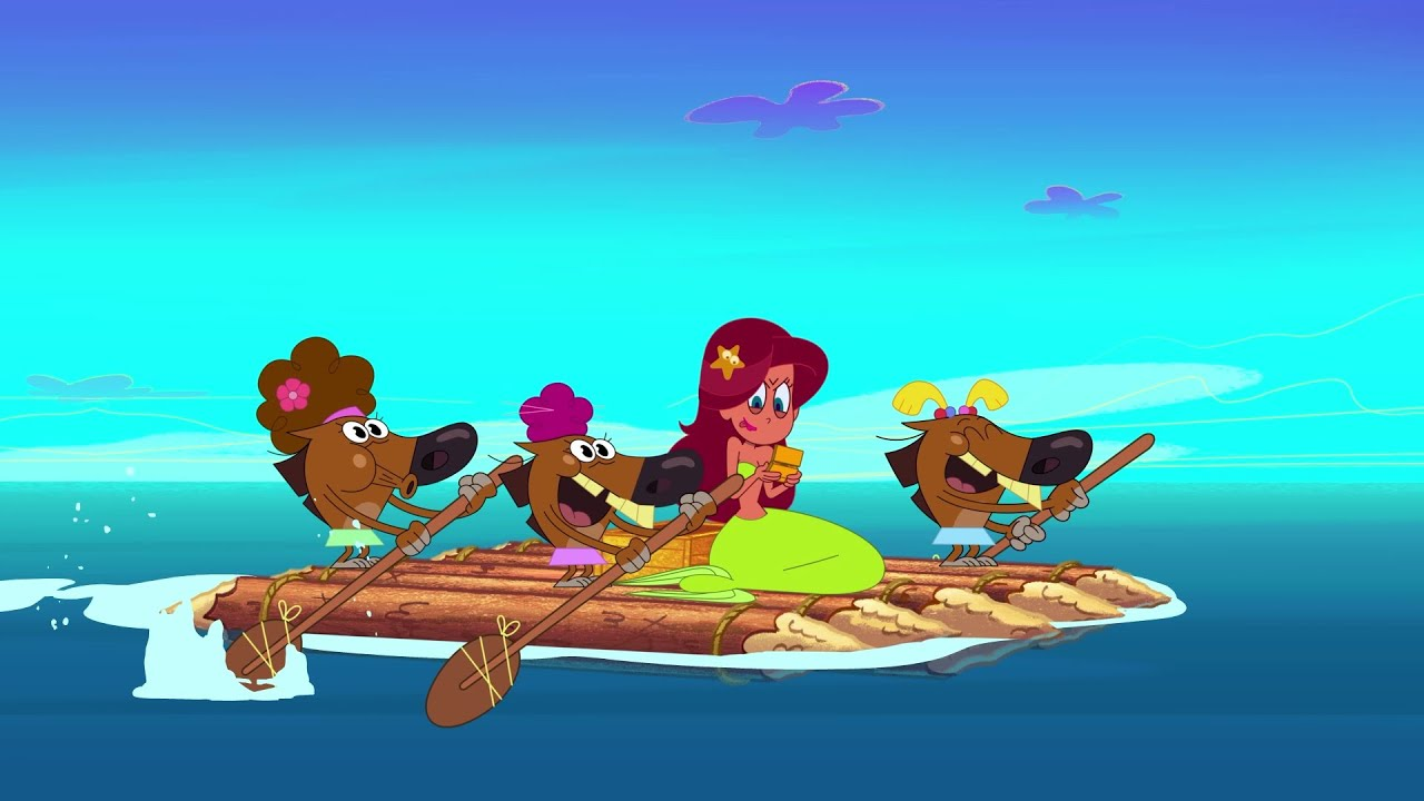 Download ZIG e SHARKO 🌊 Em uma jangada 🌊 Português Brasil   Cartoon for Kids