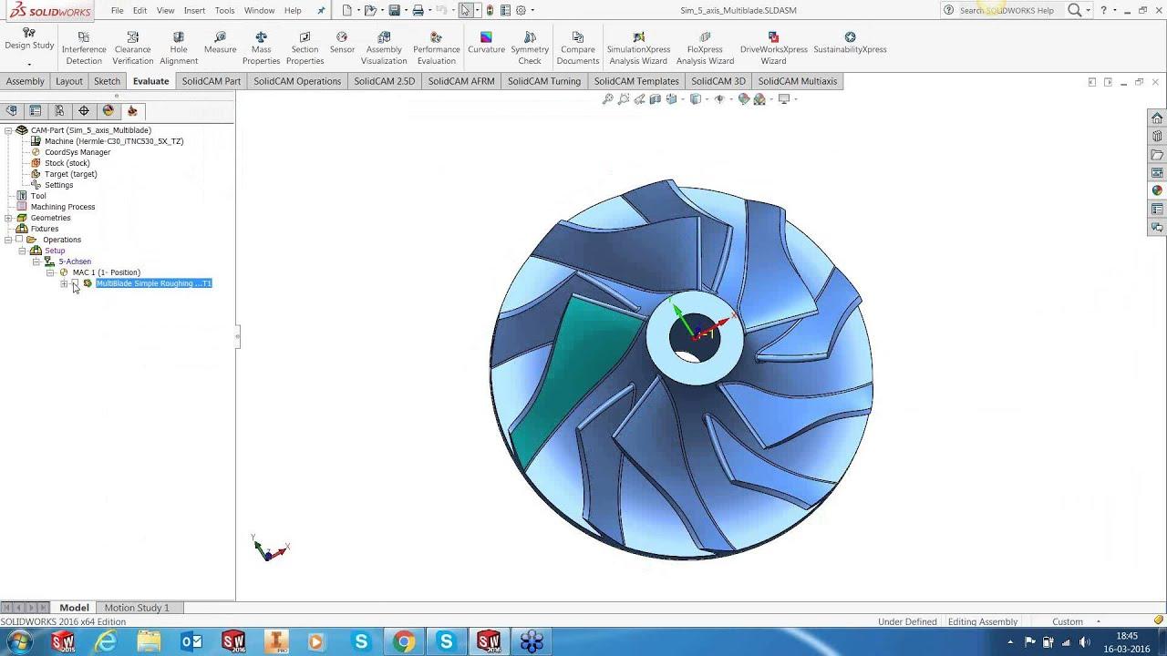 Impeller Machining Using SolidCAM Multiblade Technology