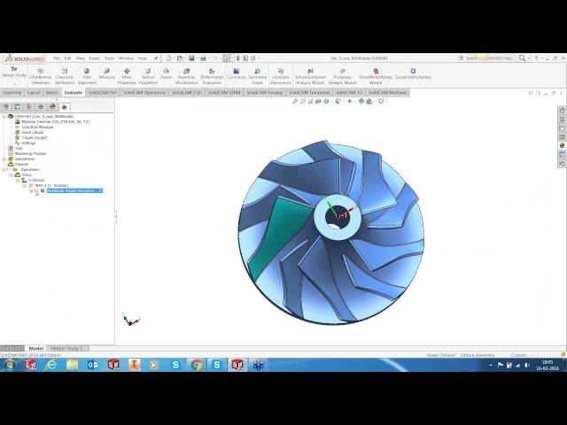 Impeller Machining Using SolidCAM Multiblade Technology
