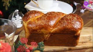CozonacRomanian Christmas Brioche with Walnuts and Turkish Delight Sweet Bread