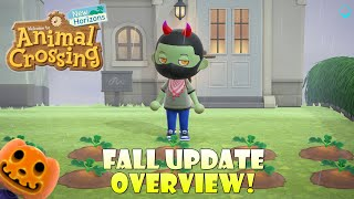 The Animal Crossing Fall Update is Here! Halloween is Coming! | Animal Crossing New Horizons