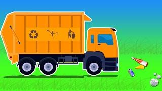 垃圾车| 洗车| 教育视频| 儿童车| Vehicles For Kids | Videos For Children | Toy Trucks | Car Wash | Garbage Truck