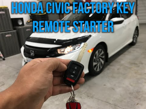 2018 Honda Civic (Remote Starter From Factory Key Fob)