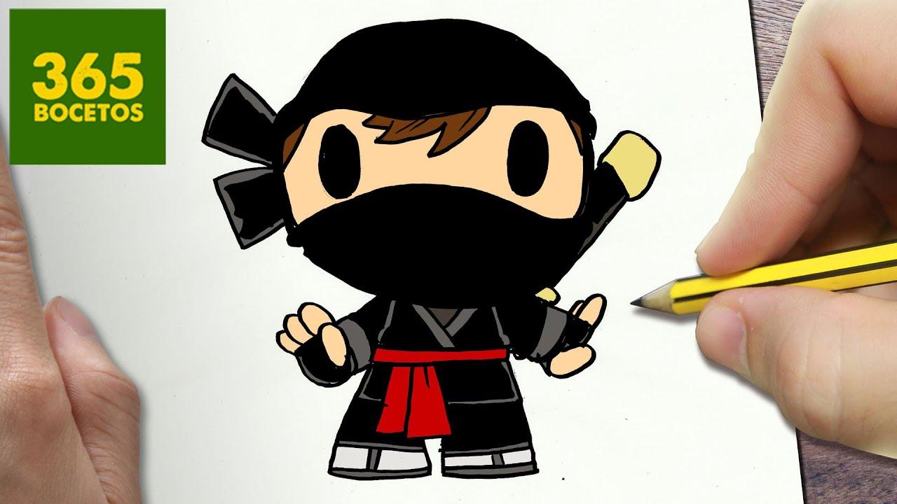 Como Dibujar Ninja Kawaii Paso A Paso Dibujos Kawaii Faciles How