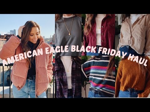 HUGE AMERICAN EAGLE BLACK FRIDAY TRY ON HAUL | SWEATERS, FLANNELS, SWEATSHIRTS & MORE!