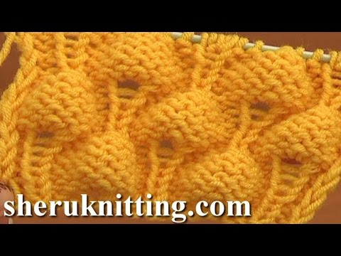 Knitting Strawberry Stitch Pattern Tutorial 13 Tricot
