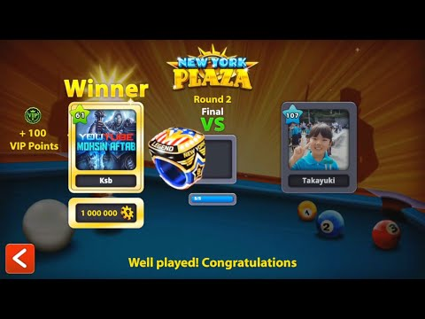 8 Ball Pool - NEW YORK RING! | Update New York Plaza Tournament [Special Mode] HD