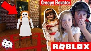 SCARY DOLL IN THE ELEVATOR! -Creepy Elevator Roblox Annabella   Daddy and Barunka CZ/SK