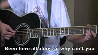 How to play You Belong With Me on the Guitar