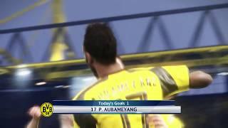 PES 2017 Aubameyang Goal + Pulisic Assist + Goal Celebration