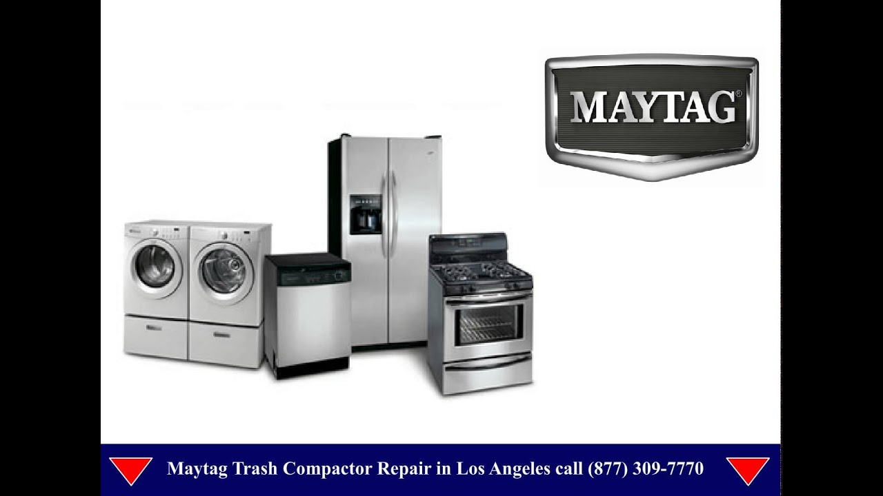 How Does A Trash Compactor Work Maytag Trash Compactor Repair Los Angeles Youtube